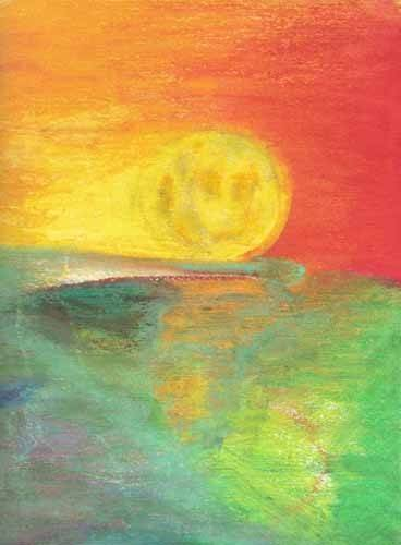 abstracts paintings - Picture -Abstracto Atardecer_11- - Molsan, E.
