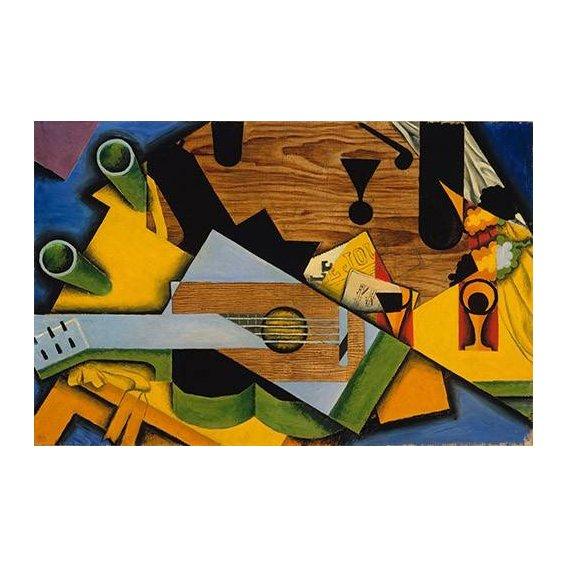 pinturas abstratas - Quadro -Still Life with a Guitar-