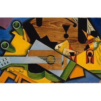 abstracts paintings - Picture -Still Life with a Guitar- - Gris, Juan