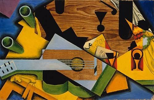 quadros-abstratos - Quadro -Still Life with a Guitar- - Gris, Juan