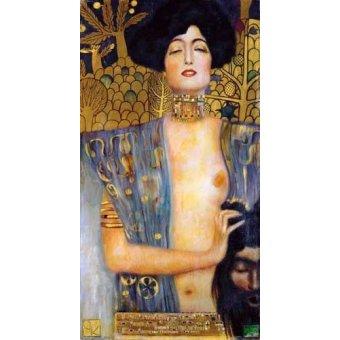 pinturas de retratos - Quadro -Judith II- - Klimt, Gustav