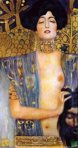 pinturas-de-retratos - Quadro -Judith II- - Klimt, Gustav