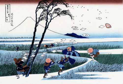 ethnic and oriental paintings - Picture -Ejiri in the Suruga province- - Hokusai, Katsushika