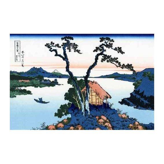 imagens étnicas e leste - Quadro -Lake Suwa in the Shinano province-