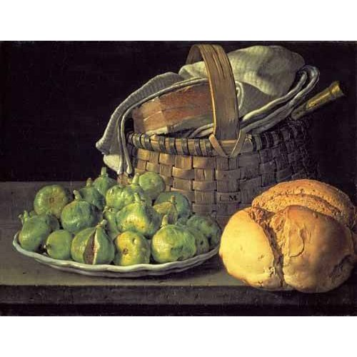 Still life paintings - Picture -Bodegón con higos-