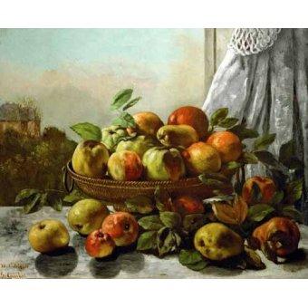 naturezas mortas - Quadro -Bodegon con frutas- - Courbet, Gustave