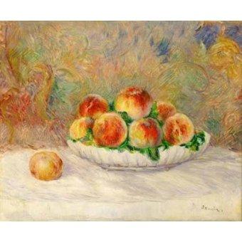 cuadros de bodegones - Cuadro -Bodegon con melocotones- - Renoir, Pierre Auguste