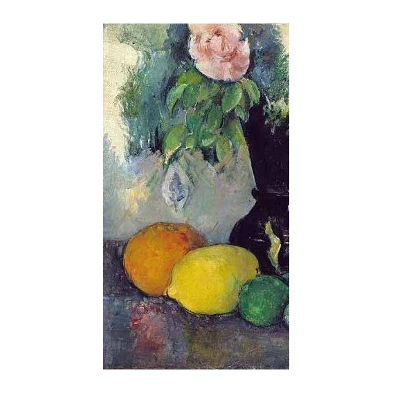 Still life paintings - Picture -Flores y frutas (1886)-