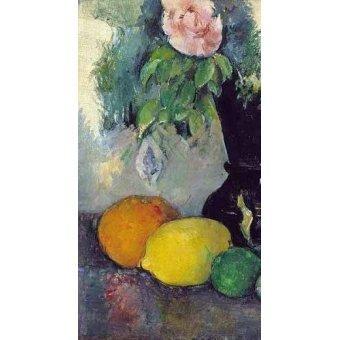 - Quadro -Flores y frutas (1886)- - Cezanne, Paul