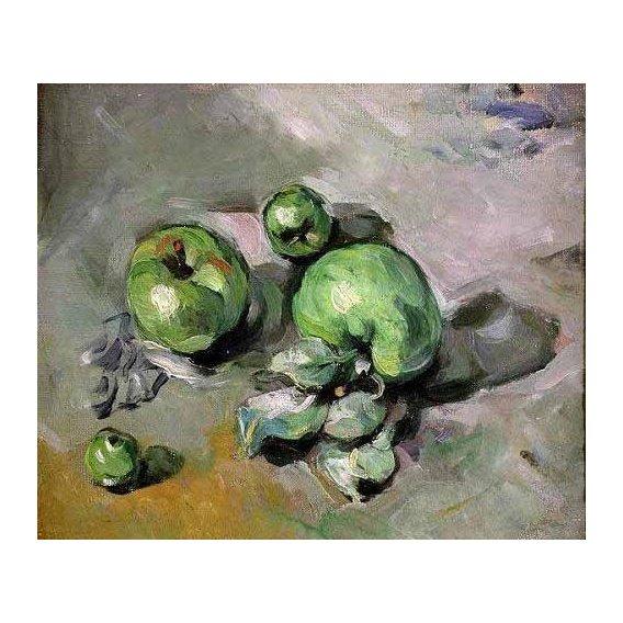 cuadros de bodegones - Cuadro -Manzanas verdes, (1872-73)-