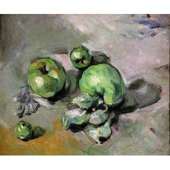 - Quadro -Manzanas verdes, (1872-73)- - Cezanne, Paul