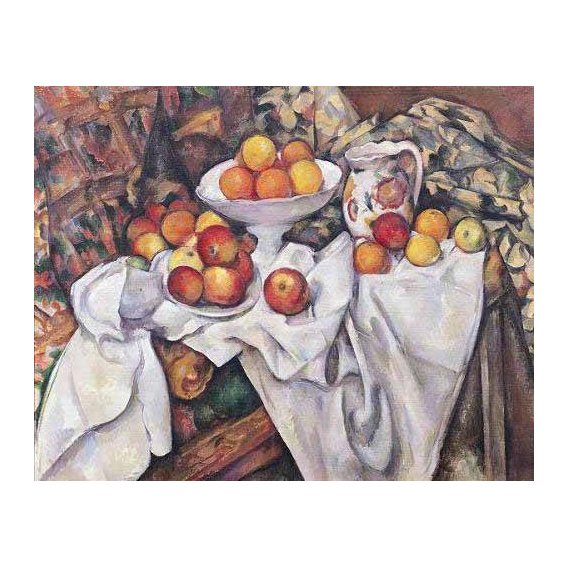 Still life paintings - Picture -Manzanas y naranjas(1895-1900)-