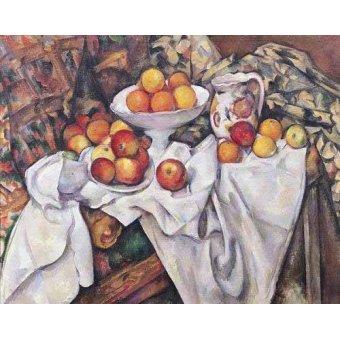 naturezas mortas - Quadro -Manzanas  y naranjas(1895-1900)- - Cezanne, Paul