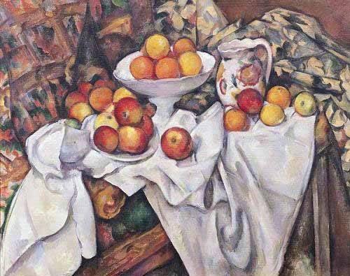 cuadros de bodegones - Cuadro -Manzanas y naranjas(1895-1900)- - Cezanne, Paul