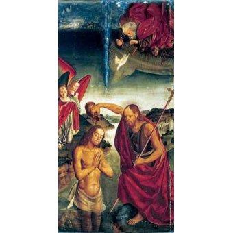 religious paintings - Picture -Bautismo De Cristo- - Berruguete, Pedro
