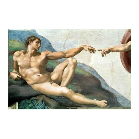 imagens religiosas - Quadro -La Creación De Adan-
