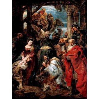 quadros religiosos - Quadro -Adoración De Los Reyes Magos- - Rubens, Peter Paulus