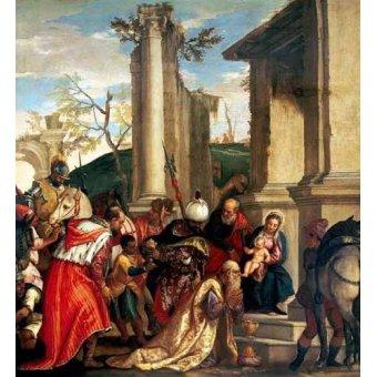 quadros religiosos - Quadro -Adoración De Los Reyes Magos- - Veronese, Paolo