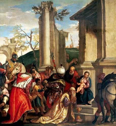 quadros-religiosos - Quadro -Adoración De Los Reyes Magos- - Veronese, Paolo