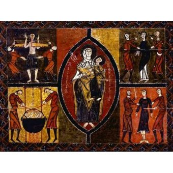 quadros religiosos - Quadro -Martirio de Santos Quirce y Julita (San Quirce de Durro)- - _Anónimo Español