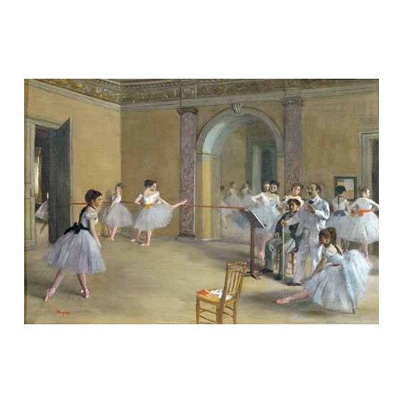 pinturas do retrato - Quadro -Foyer de la danza en la Opera-