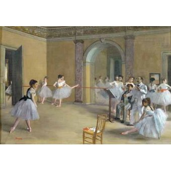 - Quadro -Foyer de la danza en la Opera- - Degas, Edgar
