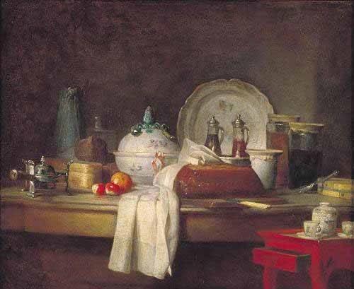 naturezas-mortas - Quadro -Comedor de Oficiales- - Chardin, Jean Bapt. Simeon