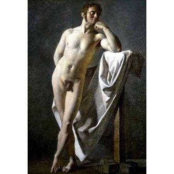 quadros nu artistico - Quadro -Estudio anatómico de un hombre- - Ingres, Jean-Auguste-Dominique