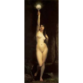 quadros nu artistico - Quadro -La Verdad- - Lefebvre, Jules