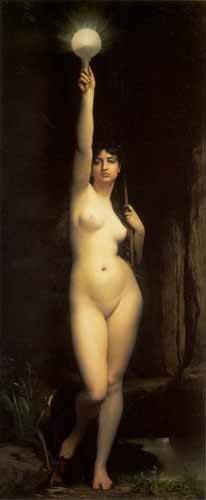 pinturas-de-retratos - Quadro -La Verdad- - Lefebvre, Jules
