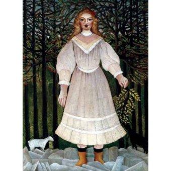 pinturas de retratos - Quadro -la Niña- - Rousseau, Henri