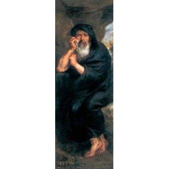 - Quadro -Heráclito, el filosofo que llora- - Rubens, Peter Paulus