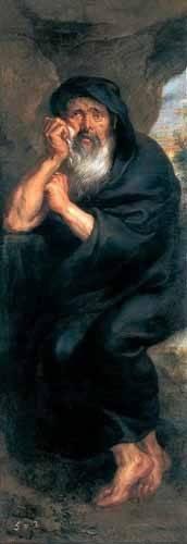 pinturas-de-retratos - Quadro -Heráclito, el filosofo que llora- - Rubens, Peter Paulus