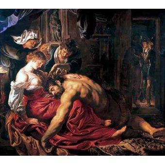 - Quadro -Sansón y Dalila- - Rubens, Peter Paulus