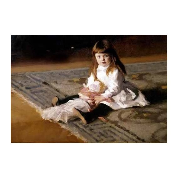 pinturas do retrato - Quadro -Los hijos de Edward D. Boit-