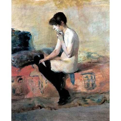 Quadro -Mujer desnuda en un divan-