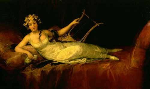 pinturas-de-retratos - Quadro -Retrato de la Marquesa de Santa Cruz- - Goya y Lucientes, Francisco de
