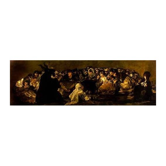 pinturas do retrato - Quadro -El Aquelarre: El Gran cabrón-