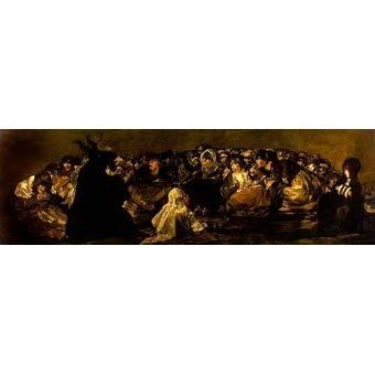 - Quadro -El Aquelarre: El Gran cabrón- - Goya y Lucientes, Francisco de