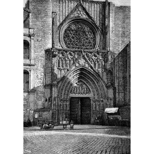 Quadro -Catedral de Valencia, vista de la puerta de los Apóstoles-