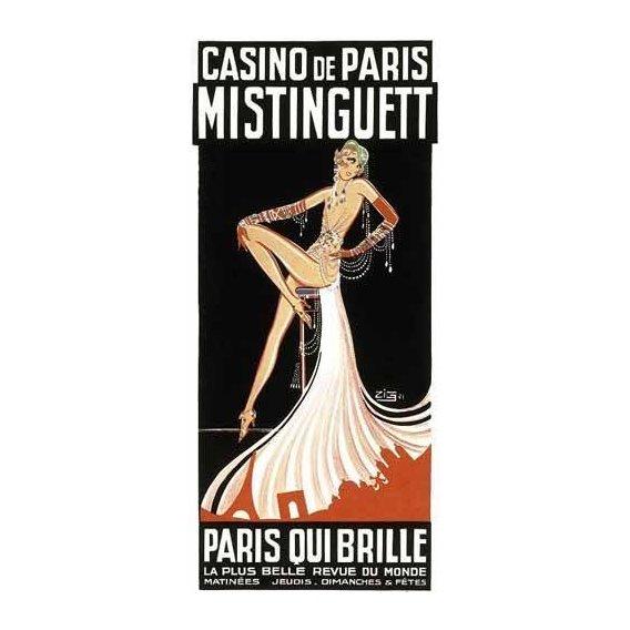 imagens de mapas, gravuras e aquarelas - Quadro -Cartel: Mistinguett en el Casino de Paris-