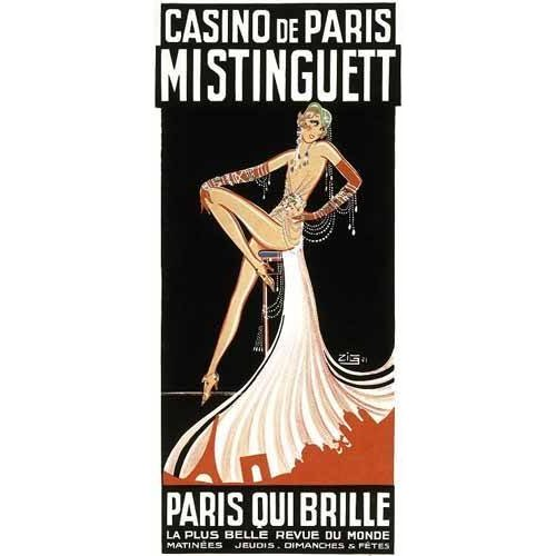 Quadro -Cartel: Mistinguett en el Casino de Paris-