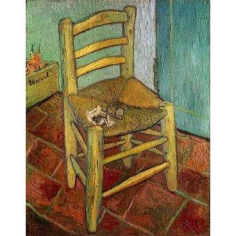 naturezas mortas - Quadro -La silla de Vincent- - Van Gogh, Vincent