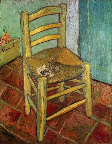 Still life paintings - Picture -La silla de Vincent- - Van Gogh, Vincent