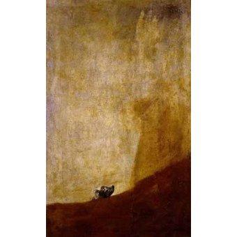 animals - Picture -Perro semihundido- - Goya y Lucientes, Francisco de