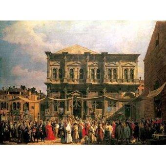 - Quadro -Visita del Dux a Iglesia San Rocco- - Canaletto, Giovanni A. Canal