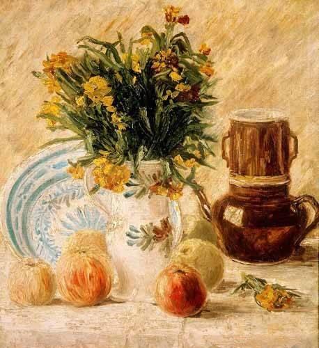Still life paintings - Picture -Bodegón, 1887- - Van Gogh, Vincent