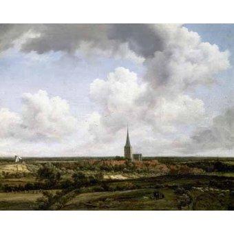 - Quadro -Paisaje llano con aldea e iglesia- - Ruisdael, Jacob van
