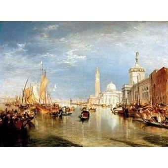 - Quadro -Dogana y San Giorgio Maggiore en Venecia- - Turner, Joseph M. William