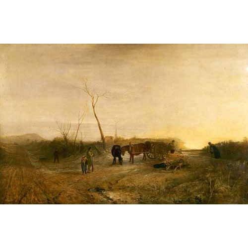 pinturas de paisagens - Quadro -Mañana glacial-
